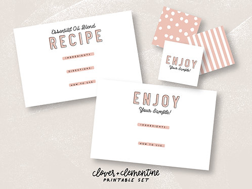 Recipe and Sample Card Set | Download + Print
