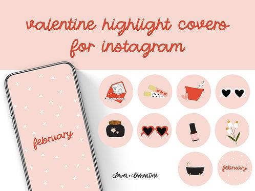 VALENTINE  Instagram Highlight Covers
