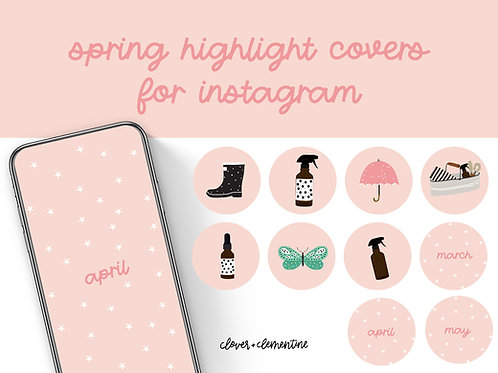 SPRING  Instagram Highlight Covers