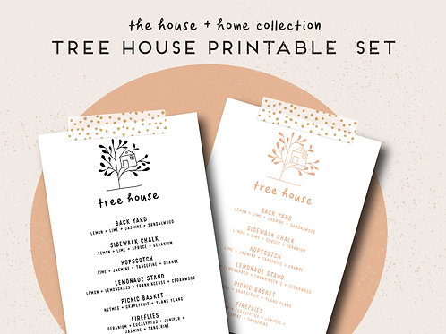 Tree House | House + Home Collection Printable Set
