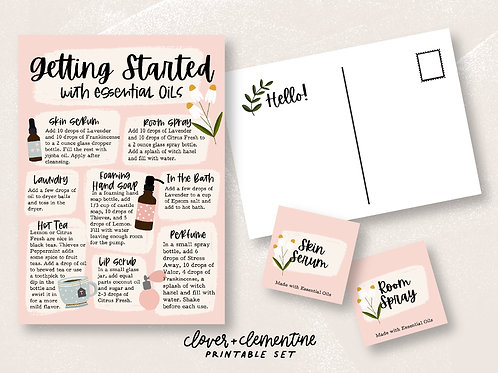 Getting Started with Oils | Welcome ResourcePrintable Recipes  Blends, and more!