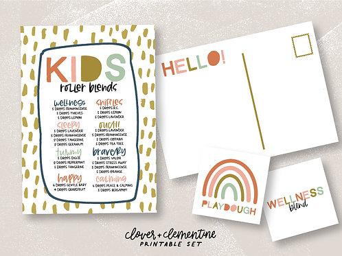 """""""Happy Modern KIDS Set"""" Blends, Recipes, Labels,   Download + Print"""