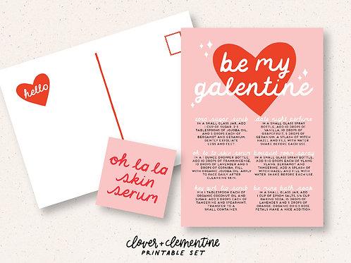 Galentine DIYs for Make and Take   Printable Set