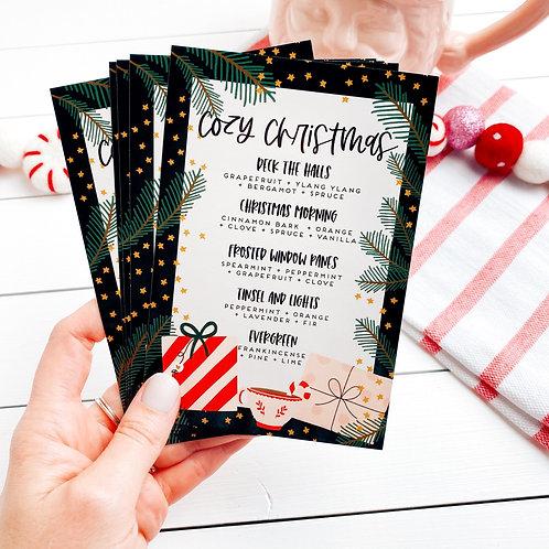 "PRINTED ""Cozy Christmas"" Postcard   5 Pack"