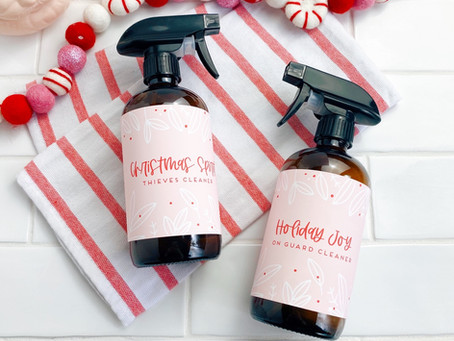 Freebie Christmas Cleaner Labels