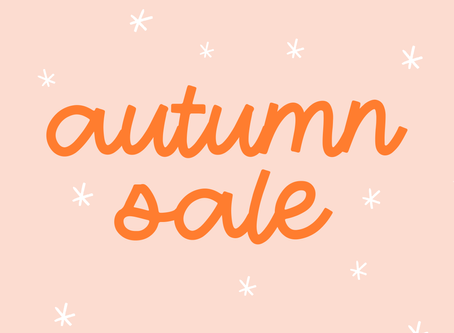 First Day of Autumn Sale!