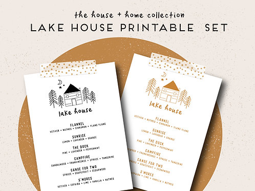 Lake House | House + Home Collection Printable Set