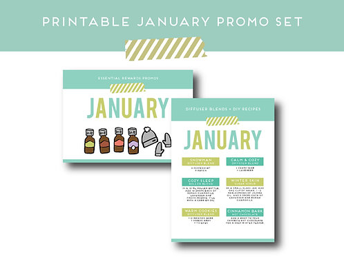 "Download + Print | ""January Promo"" Postcard and Label Set 