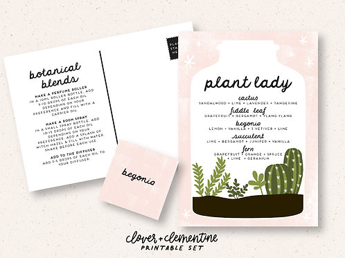 """""""Plant Lady"""" Recipe and Sticker Set   Download + Print"""