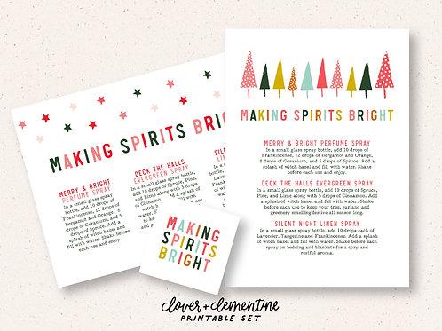 Making Spirits Bright DIY Set | Printable