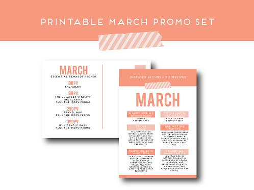 """March Promo"" Postcard and Label Set 