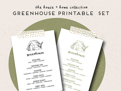 Greenhouse | House + Home Collection Printable Set