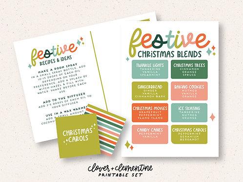 Festive Christmas Blends | Printable Set