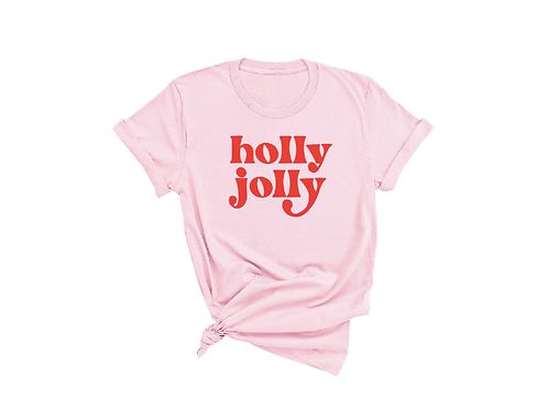 Holly Jolly Tee  | Pink | UNISEX FIT