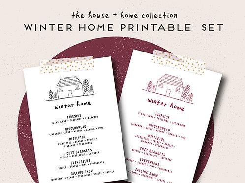 Winter Home   House + Home Collection Printable Set
