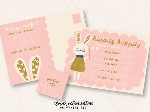 """Hippity Hoppity"" Easter Recipe and Sticker Set 