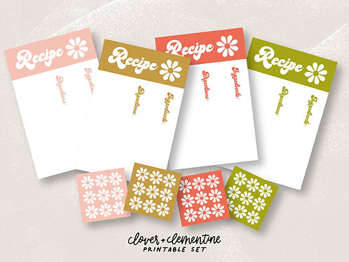 Vintage Inspired Recipe Card Set | Download + Print