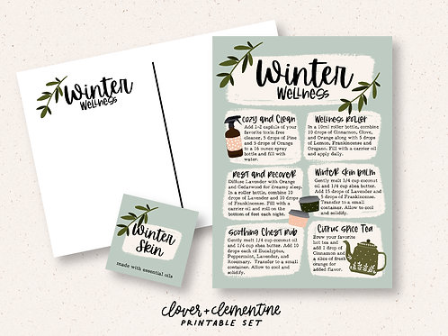 Winter Wellness | Printable Set