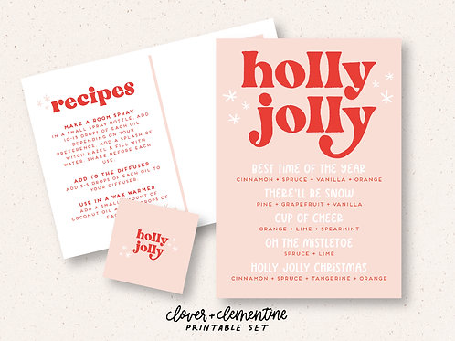 Holly Jolly | Christmas Printable Set