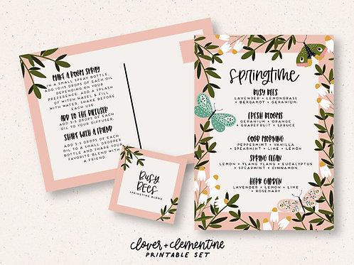 """Springtime Blends"" Recipe and Sticker Set | Download + Print"