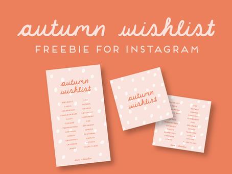 Freebie Autumn Wishlist