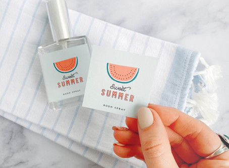 Freebie Friday: Sweet Summer Room Spray Label