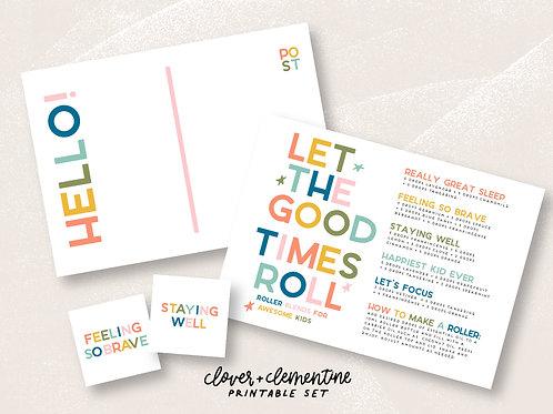 Let the Good Times Roll   Kids Roller Set  Download + Print