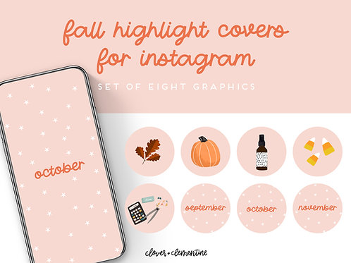 FALL Instagram Highlight Covers