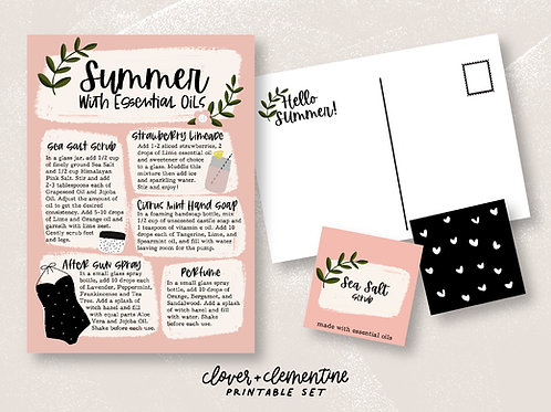 Summer with Essential Oils | Download +Print