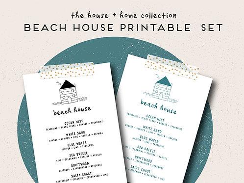 Beach House   House + Home Collection Printable Set