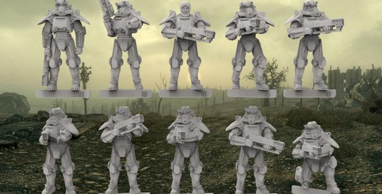 Post Apocalyse Power Armour Squad