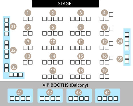 VIP Booths of 4 - BGT & Voice Kids stars - 31 Oct