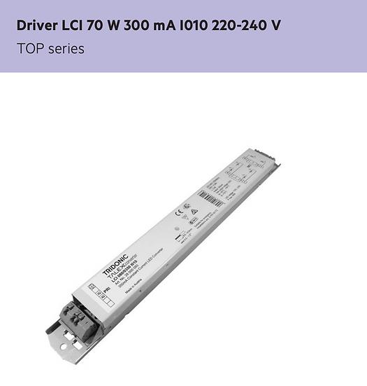 TRIDONIC LCI 070/0300 I010LED DRIVER