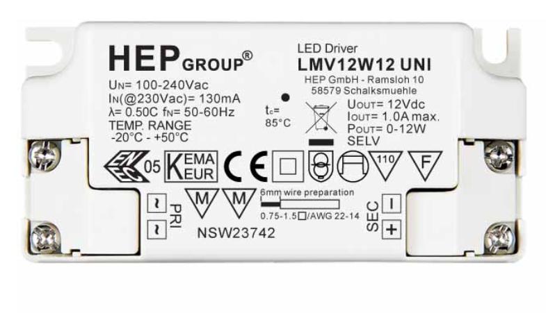 HEP LMV12W24 UNI F&P