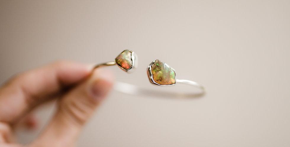 Ethiopian Opal Duo Cuff Bracelet