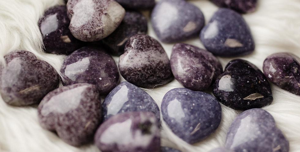 Lepidolite Heart Stones