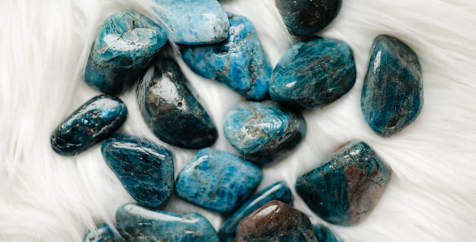 Blue Apatite Tumbled Stone