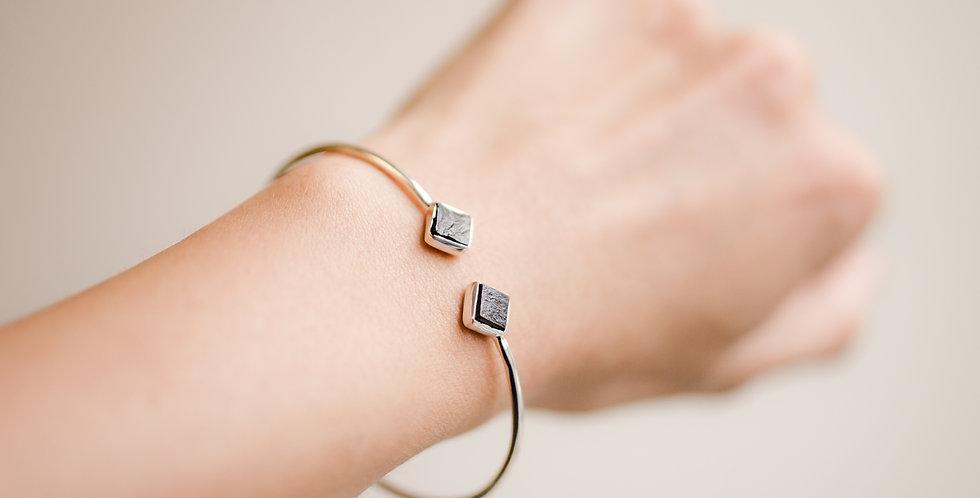 Shungite Duo Cuff Bracelet