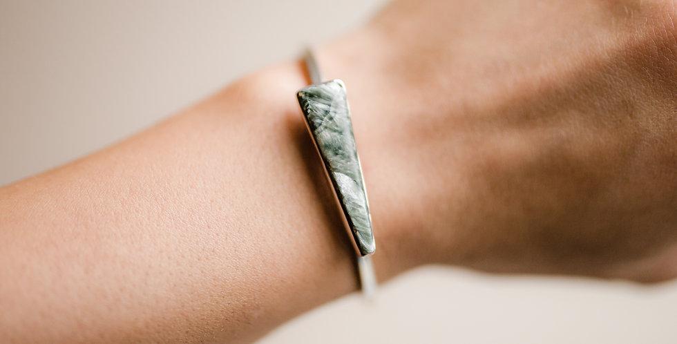 Seraphinite Cuff Bracelet