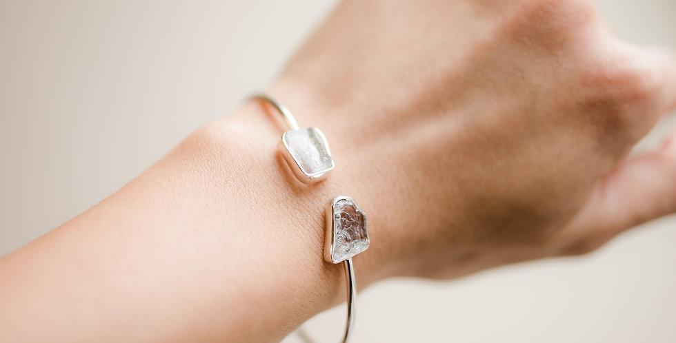 Aquamarine Duo Cuff Bracelet