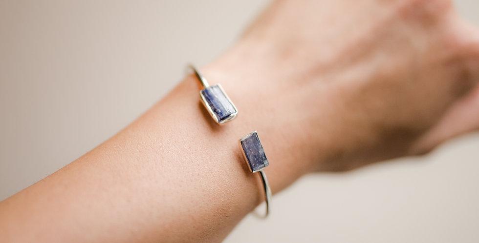 Blue Kyanite Duo Cuff Bracelet