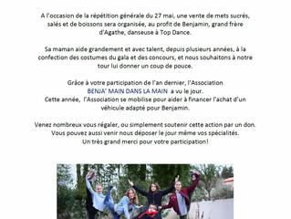 """Répétition générale du Gala... Association """"Benja'main dans la main"""""""