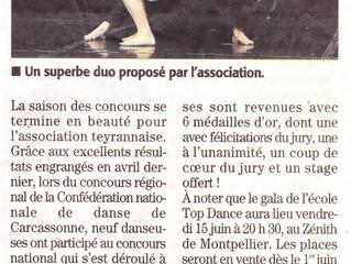 "Article paru dans ""Midi Libre"" Mai 2018"