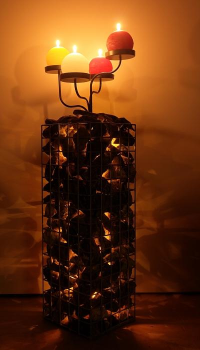 Säule mit Licht