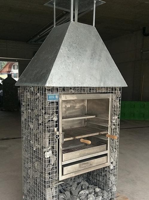 Steinkorb-Grill