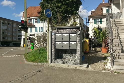 Briefkasten 3 und 6 fach, horizontal ab