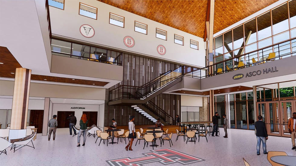 """The lobby of the new Texas Tech University School of Veterinary Medicine academic headquarters in Amarillo will be named """"ASCO Hall"""" in honor of ASCO Equipment. Last summer, the agriculture and construction equipment dealer contributed $5 million in support of construction and development of the school. #TTUVetMed"""