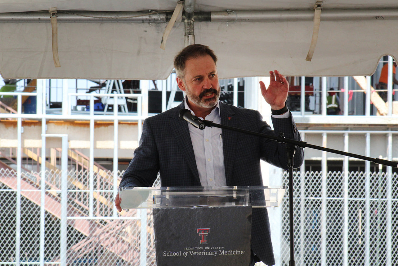 Dr. Guy Loneragan, dean of the Texas Tech University School of Veterinary Medicine, updated the media on the steps being taken to open the new veterinary school, including construction, hiring of faculty and accreditation! #TTUVetMed