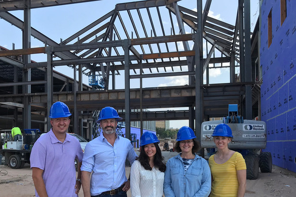 Faculty members Jason Fitzler, Guy Loneragan, Annelise Nguyen, Nancy Zimmerman and Bethany Schilling recently enjoyed a tour of  the facilities.
