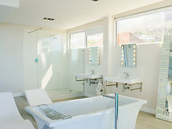 a picture of a remodeled bathroom